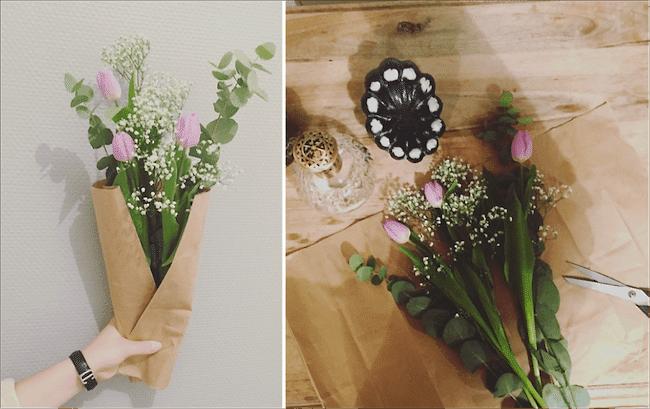 bouquet fleur vide dressing