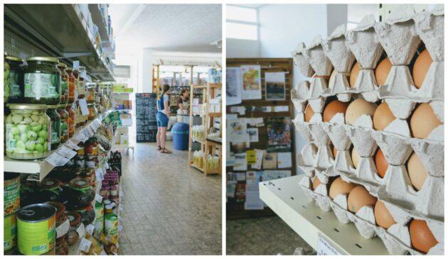 les rayons de l'épicerie de l'éléfàn à Grenoble