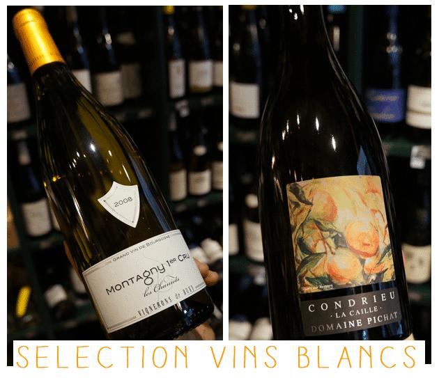 Selection vins blancs l'échanson noël 2012