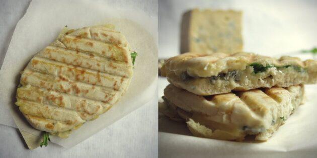 pain pita au bleu du Vercors