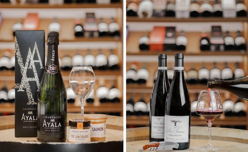 "Selection : Champagne ""Ayala"" et ""Crozes Hermitage"""