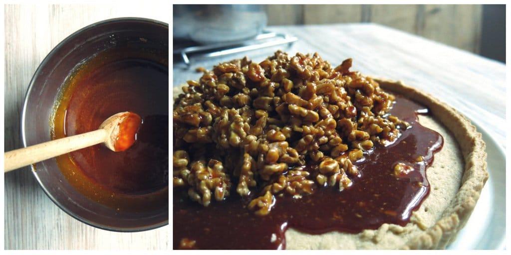 Caramel pour tarte aux noix de Grenoble