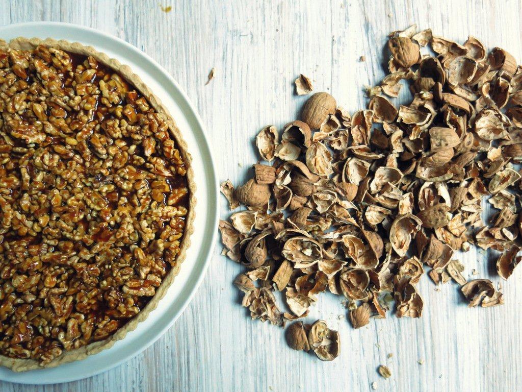 Tarte aux noix de Grenoble et caramel