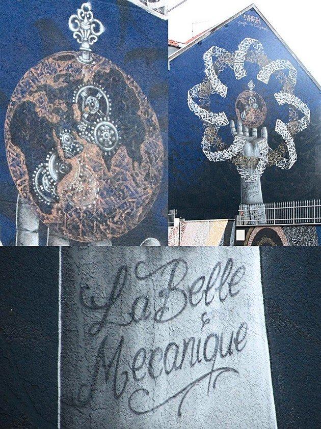 Street Art Grenoble Snek Belle électrique