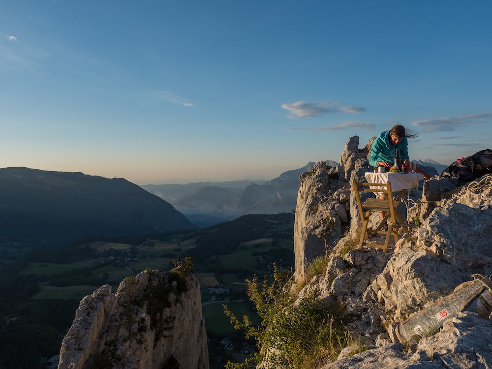 manger à la montagne