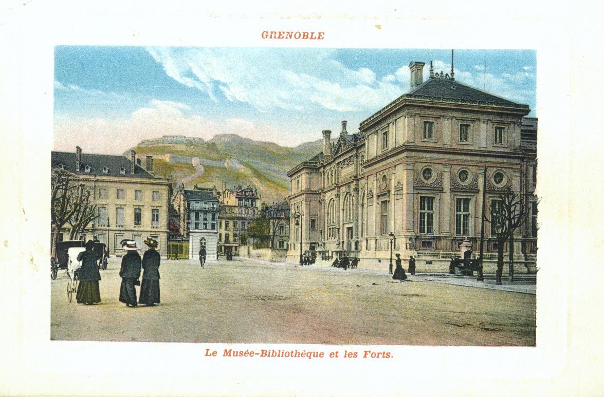 carte postale histoire musée de Grenoble