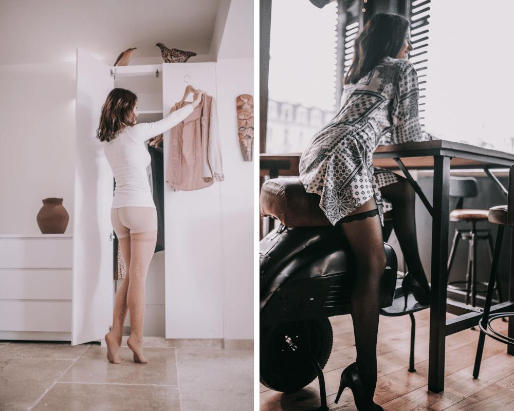 legging collant Maille Self