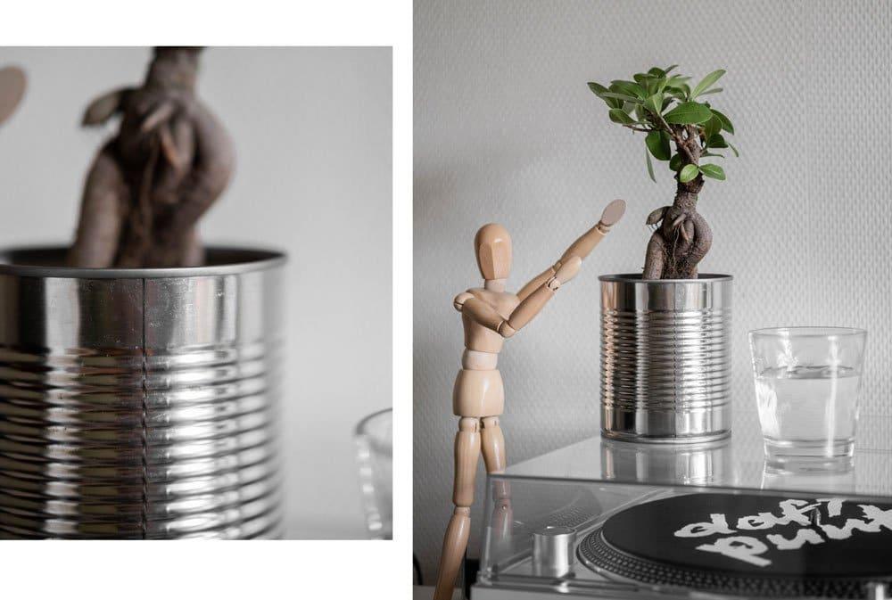pot de fleurs recyclé